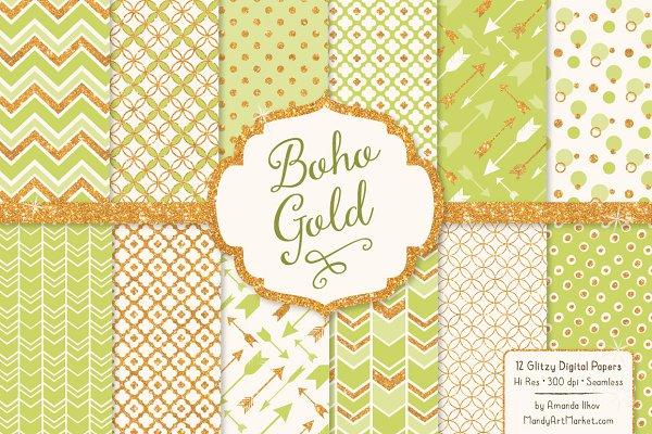 Bamboo Bohemian Digital Papers