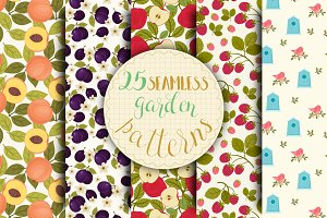 25 Seamless Garden Patterns