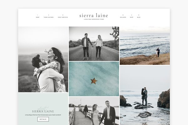 WordPress Photography Themes - Sierra Laine - A Boutique Theme
