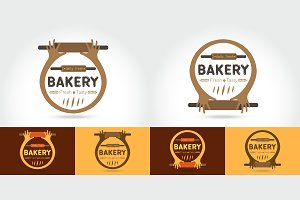 Set of  logo of the bakery