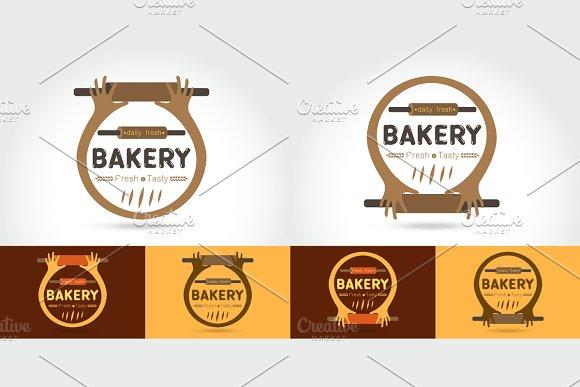 Set of  logo of the bakery