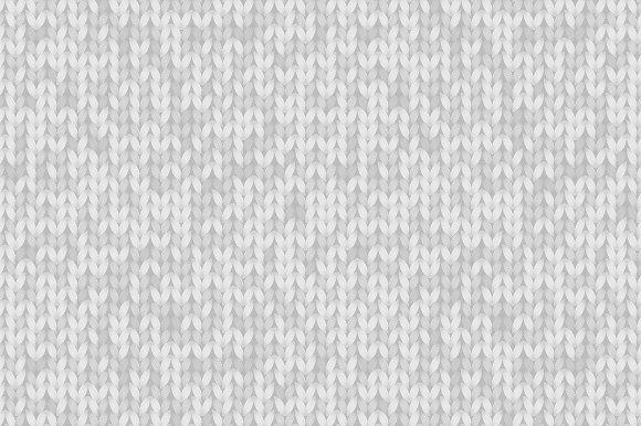 Gray Melange Knitted Pattern Vector