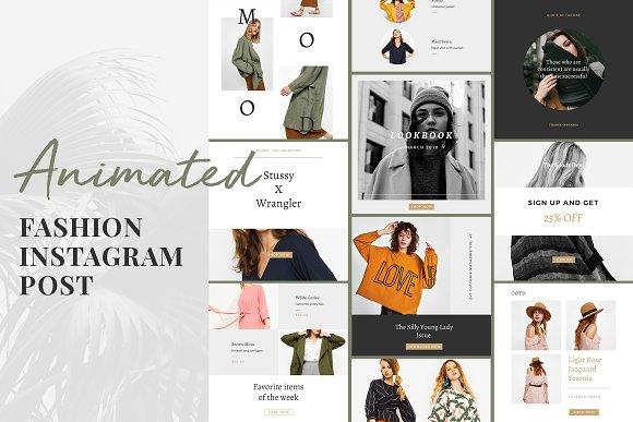 Animated Fashion Instagram Post