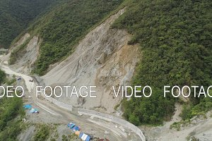 Construction on a mountain road. Philippines, Luzon.