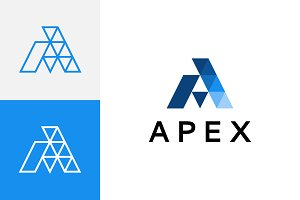 Apex - Abstract Letter A Logo