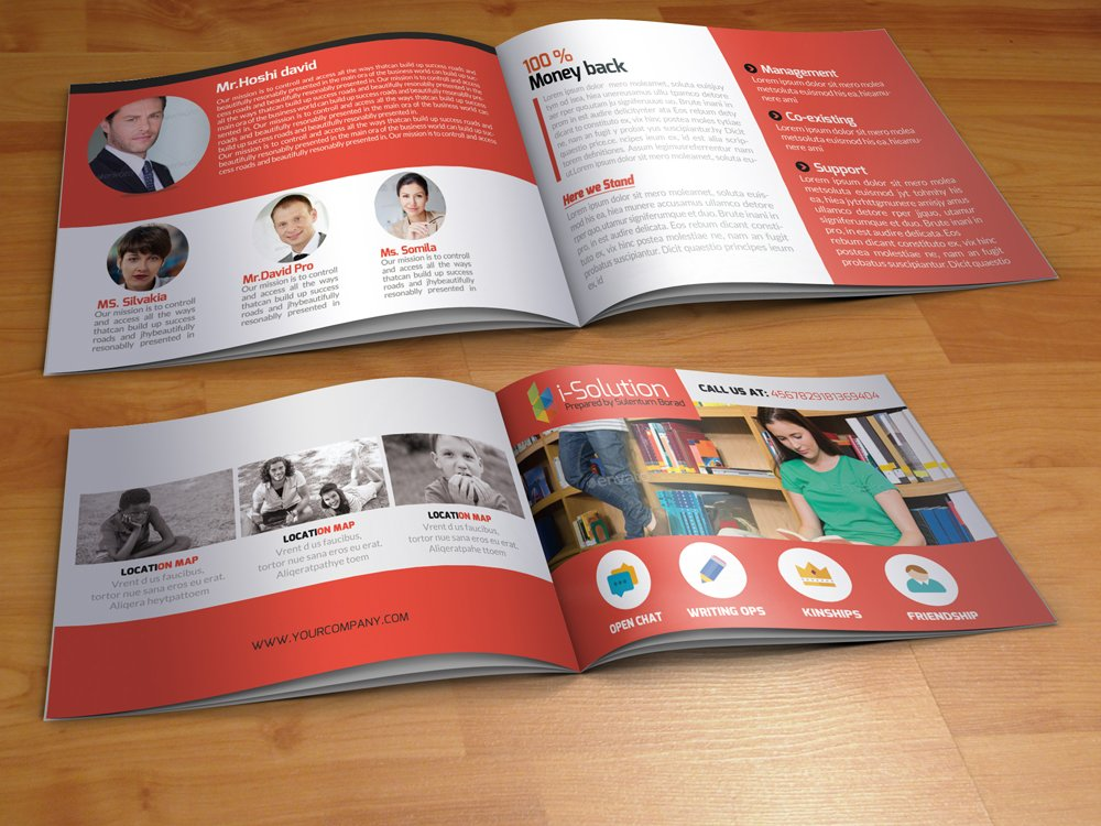 Education Bi Fold Brochure Brochure Templates Creative Market