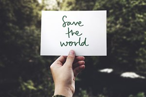 Save the world card