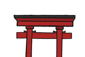 The great Torii Gate illustration