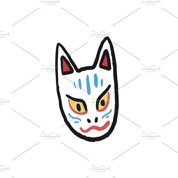 Noh Mask Kitsune Fox