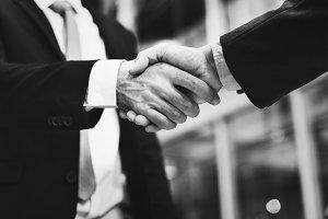 Close up of a business handshake