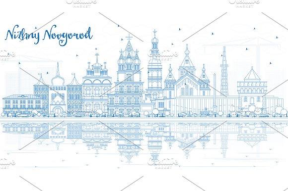 Outline Nizhny Novgorod Russia City
