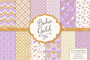 Lavender Purple Glitter Patterns