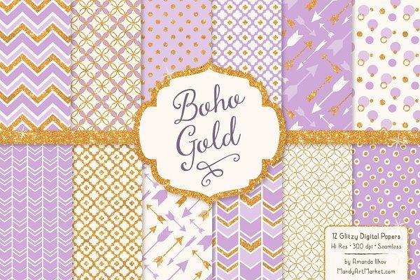 Lavender Purple Glitter Patterns
