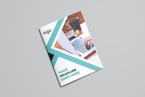Creative Blue Bifold Brochure