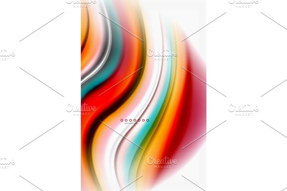 Rainbow Color Waves Vector Blurred Abstract Background
