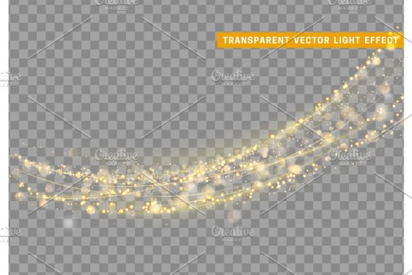 Magic Light Effect Stardust Gold Glitter
