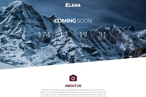 Elena - Coming Soon Page
