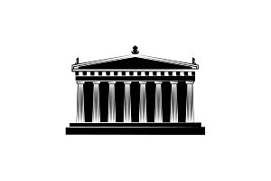 World Attractions. Parthenon black
