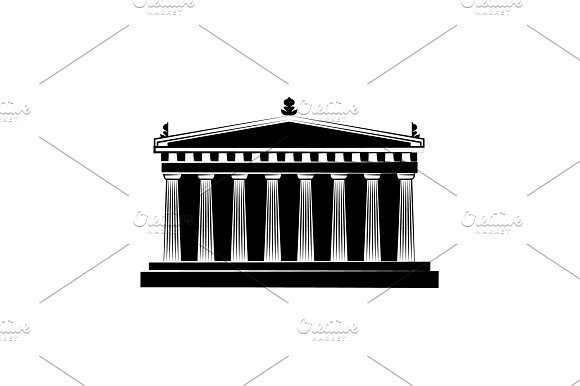 World Attractions Parthenon Black