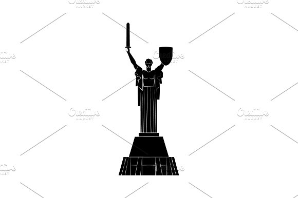 Statue Of Motherland In Kiev
