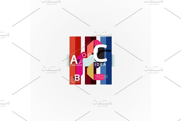 Vector Infographic Options Banner Paper Style Design