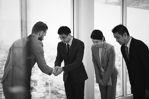 Business people having a handshake