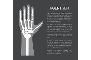 Roentgen Poster and Text, Vector Illustration