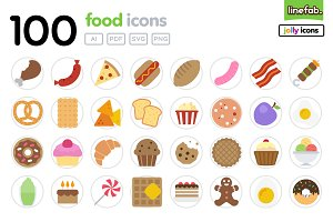 100 Food Icons - Jolly