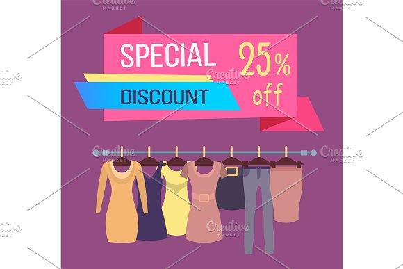 Special Discount Tag 25% Dresses Skirts Trousers