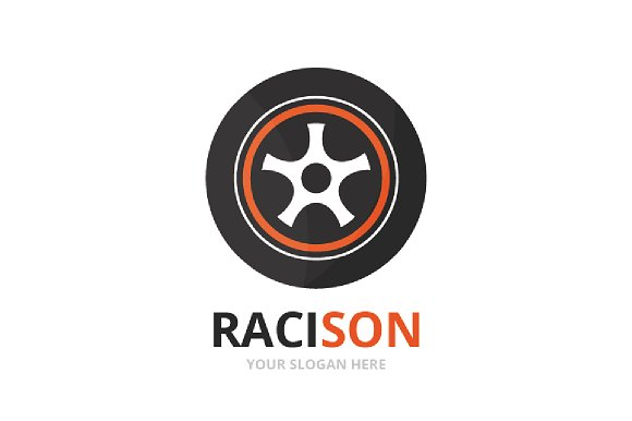 Vector Wheel Logo Combination Tire And Car Symbol Or Icon Unique Tyre And Service Logotype Design Template
