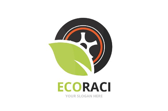 Vector Wheel And Leaf Logo Combination Tire And Eco Symbol Or Icon Unique Tyre And Organic Logotype Design Template