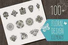 100+ floral design elements