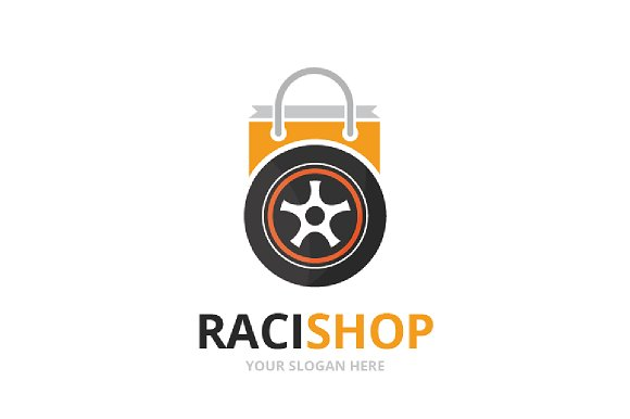 Vector Wheel And Shop Logo Combination Tire And Sale Symbol Or Icon Unique Tyre And Market Logotype Design Template