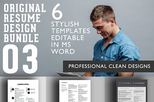 3 Professional Resume Designs Bundle