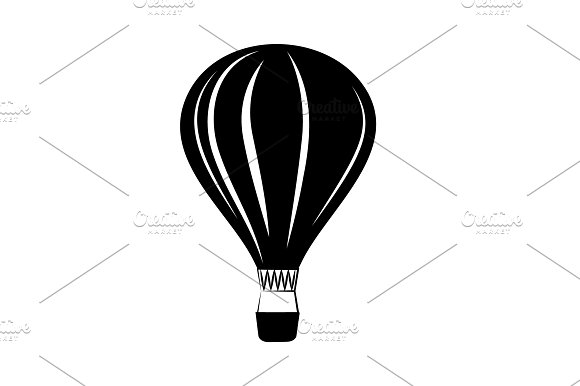 Balloon Vector Icon Black On White