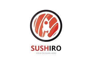 Vector sushi and rocket logo