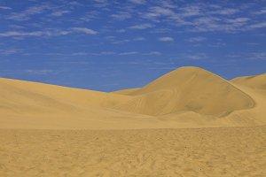 Sand dunes in the Atacama desert in