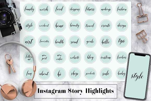 Mint Instagram Story Highlights