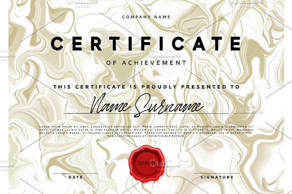 Template Design Of The Certificate