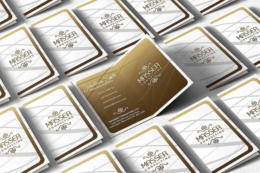 50 Golden Business Cards Bundle in Business Card Templates - product preview 43