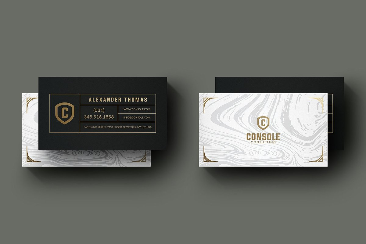 50 Golden Business Cards Bundle in Business Card Templates - product preview 47