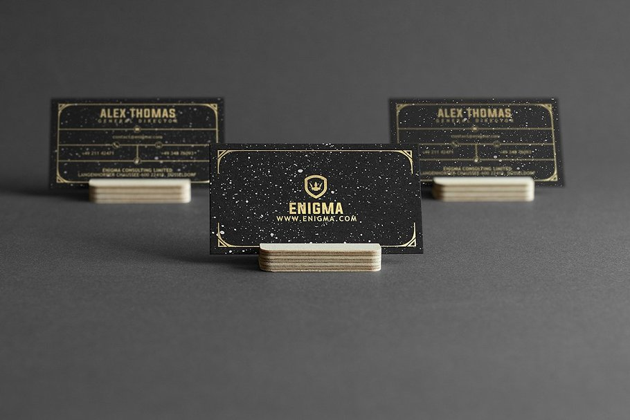 50 Golden Business Cards Bundle in Business Card Templates - product preview 49