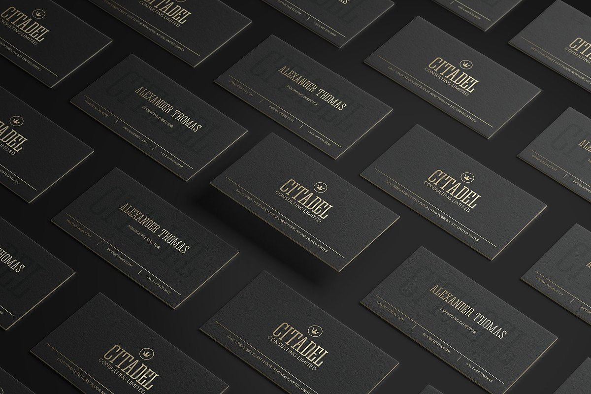 50 Golden Business Cards Bundle in Business Card Templates - product preview 45