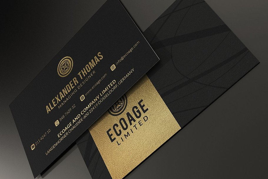 50 Golden Business Cards Bundle in Business Card Templates - product preview 44