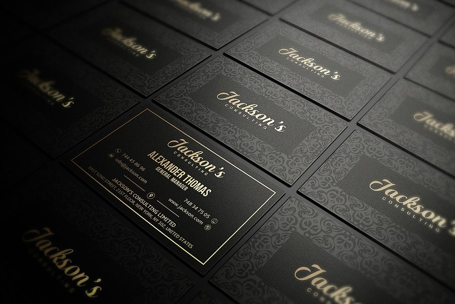 50 Golden Business Cards Bundle in Business Card Templates - product preview 42