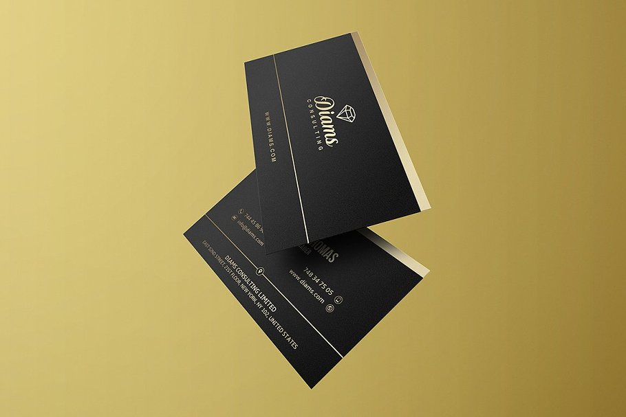 50 Golden Business Cards Bundle in Business Card Templates - product preview 40
