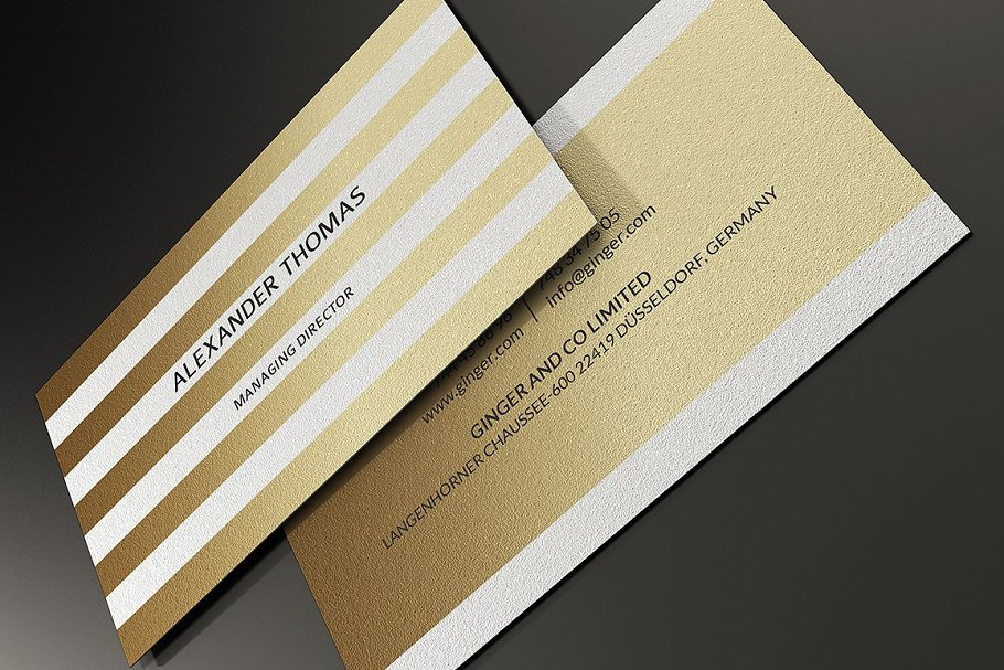 50 Golden Business Cards Bundle in Business Card Templates - product preview 39