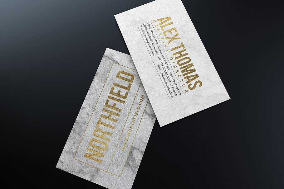 50 Golden Business Cards Bundle in Business Card Templates - product preview 35