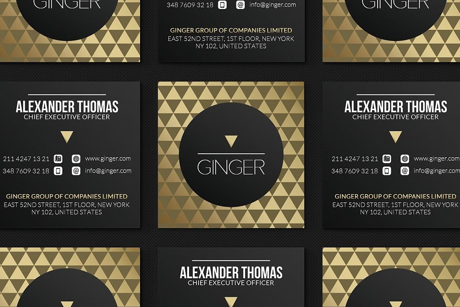 50 Golden Business Cards Bundle in Business Card Templates - product preview 34