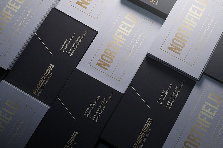 50 Golden Business Cards Bundle in Business Card Templates - product preview 33